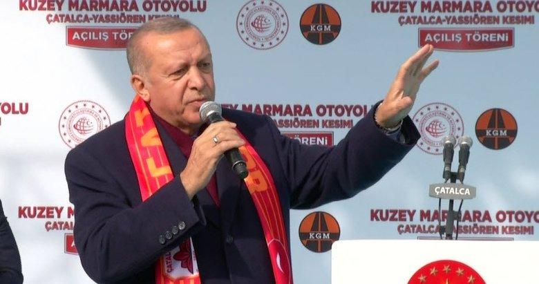 Başkan Erdoğan'dan Kuzey Marmara Otoyolu açılışında önemli açıklamalar