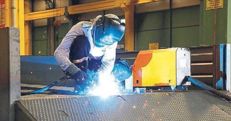 Sanayi üretiminde yüzde 8,7 yükseliş