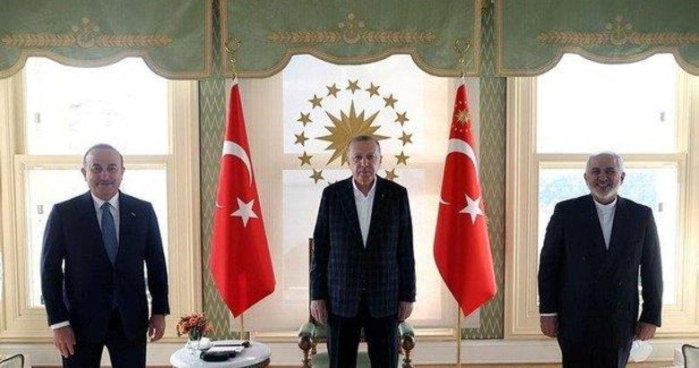 Başkan Erdoğan'ın İran Dışişleri Bakanı Zarif'i kabul etti