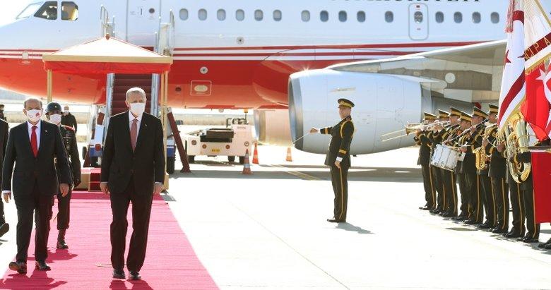 Son dakika: Başkan Erdoğan KKTC'ye geldi