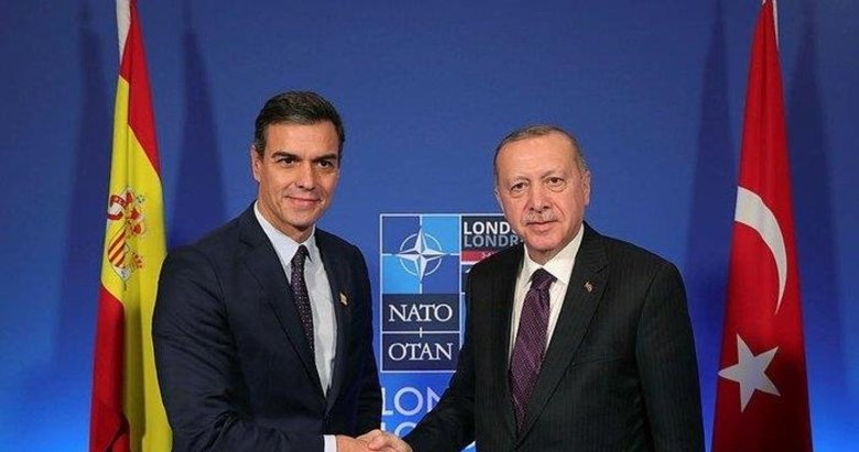 Başkan Erdoğan İspanya Başbakanı Sanchez ile görüştü