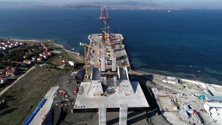 1915 Çanakkale Köprüsü inşaatında son durum nedir? Yaklaşım viyadükleri yükseliyor