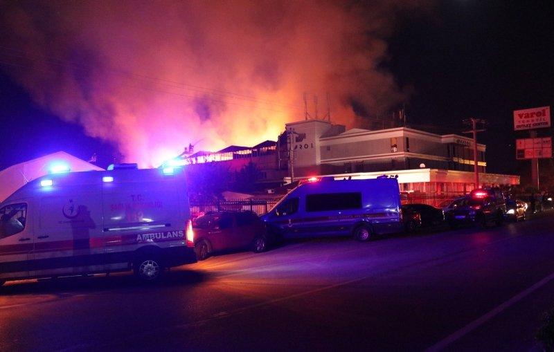 Denizli'de tekstil fabrikasında yangın