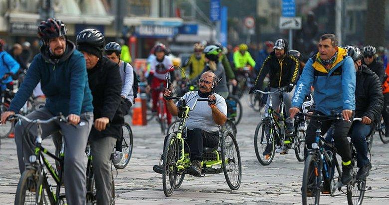 İzmir'de pedallar engelliler için döndü