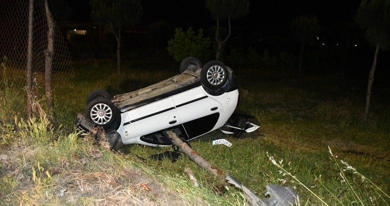 Takla atarak kaza yaptığı aracını bırakıp kayıplara karıştı