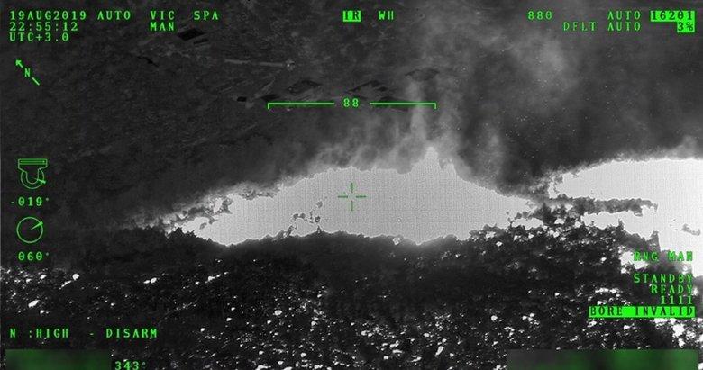 Milli İHA İzmir'deki yangında gece uçuşu yaptı! Bu kez yangının üzerine gitti