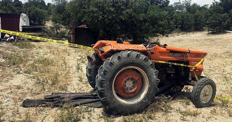 Uşak'da feci ölüm! Devrilen traktörün altında kalan sürücü hayatını kaybetti