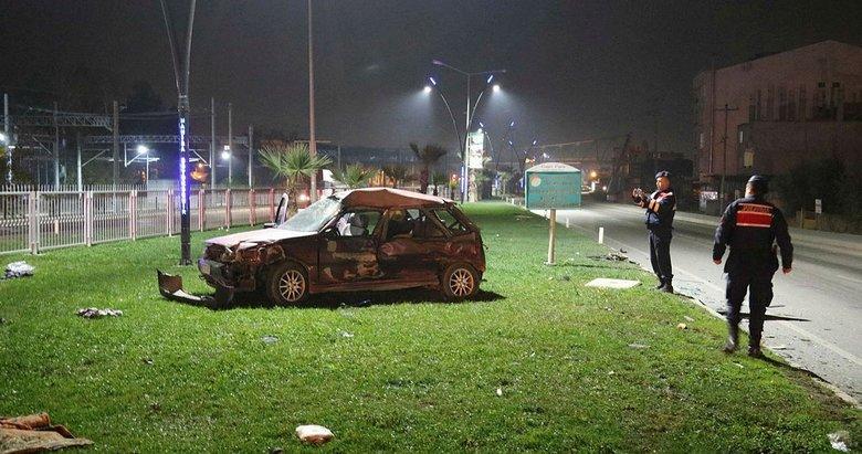 Manisa'da tır ile otomobilin çarpıştığı kazada 2 kişi yaralandı