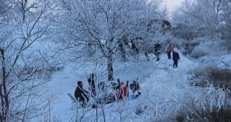 Aydınlıların kar sevinci