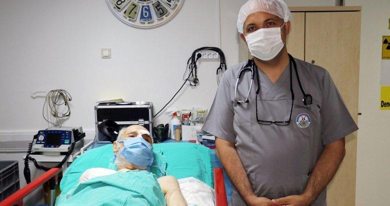 93 yaşındaki hasta, kalp piliyle sağlığına kavuştu