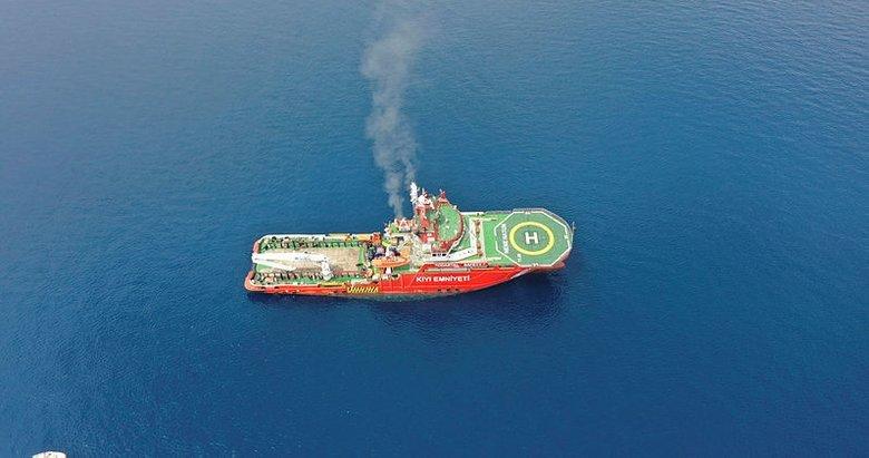 Nene Hatun gemisi, orman yangınlarıyla mücadeleye destek için Ören'de