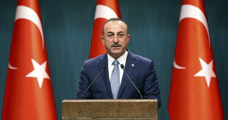 Mevlüt Çavuşoğlu'ndan 'Barış Pınarı' açıklaması