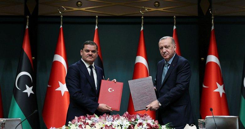 Türkiye ile Libya arasında tarihi anlaşmalar yapıldı! Başkan Erdoğan'dan önemli açıklamalar