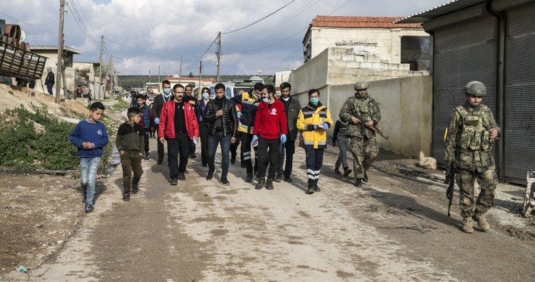 Türkiye'den Afrin'de koronavirüse karşı bilgilendirme çalışması