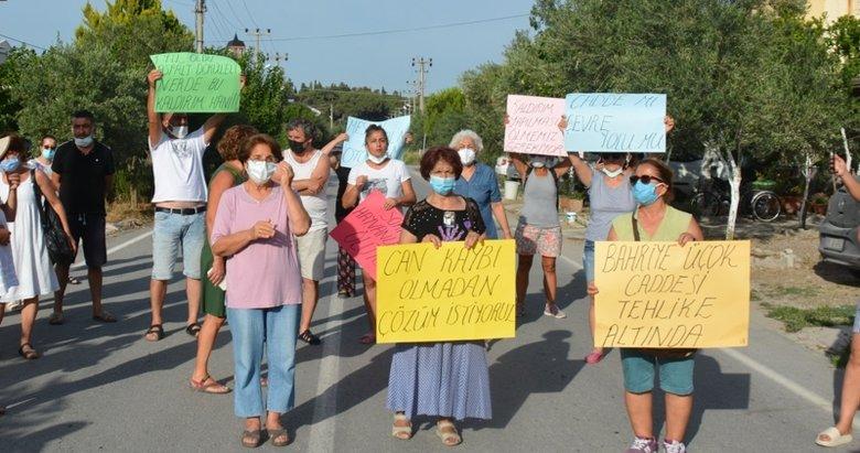 Dikili'de mahalleliden CHP'li belediyeye tepki!
