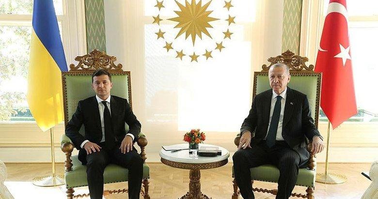 Başkan Erdoğan, Ukrayna Devlet Başkanı Zelenskiy'yi kabul etti