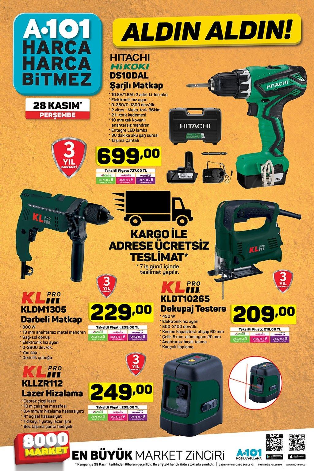 BİM A101 aktüel ürünler kataloğu 28-29 Kasım! Bu hafta hangi ürünler indirimli?