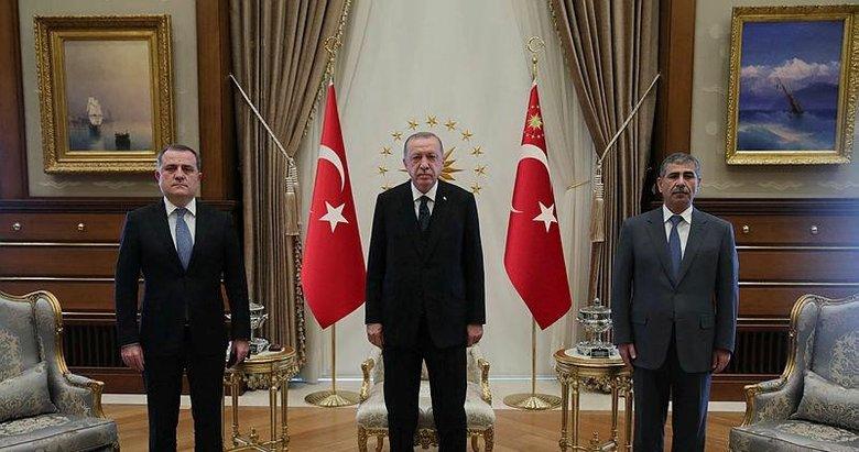 Başkan Erdoğan, Ceyhun Bayramov ile Zakir Hasanov'u kabul etti