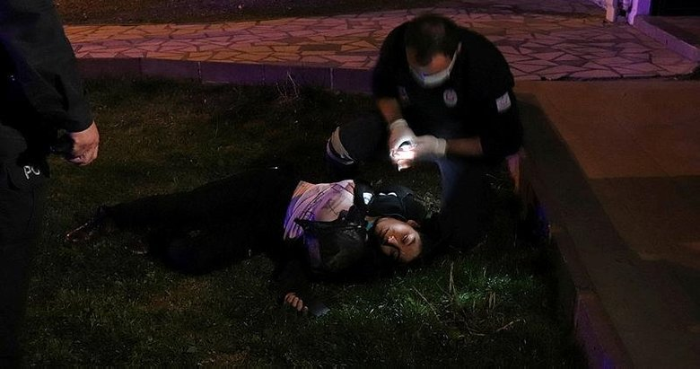 Kumar oynarken basılan kadın ikinci kattan atlayıp yaralandı