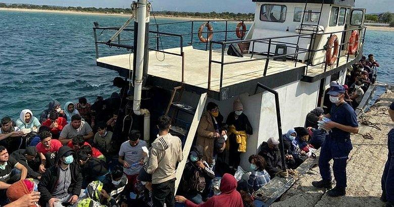İki ayrı operasyonda 251 kaçak göçmen yakalandı
