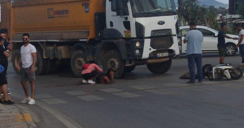 Bodrum'da feci kaza! Bacağı hafriyat kamyonunu altında kalan adam...