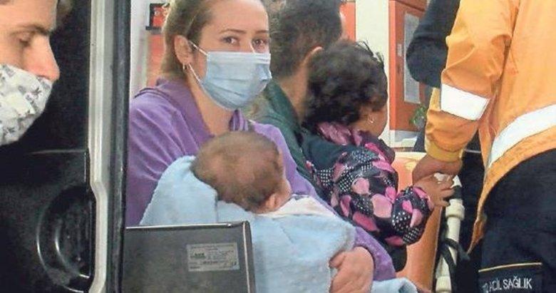Bina yangınından 3'ü çocuk 11 kisi etkilendi