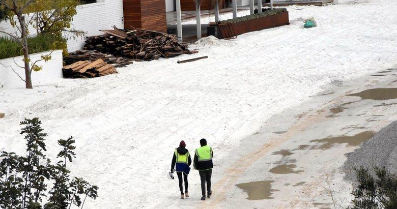 Bodrum'daki görüntüler büyük tepki çekmişti! Kuvars tozu, kaldırılmaya başlandı