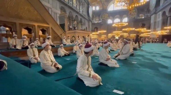 Başkan Erdoğan Ayasofya Camii'nde Kur'an okudu