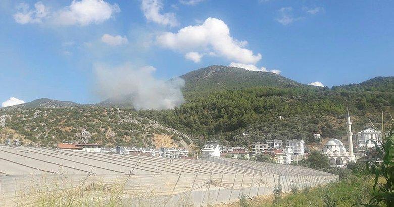 Muğla Fethiye'de orman yangını
