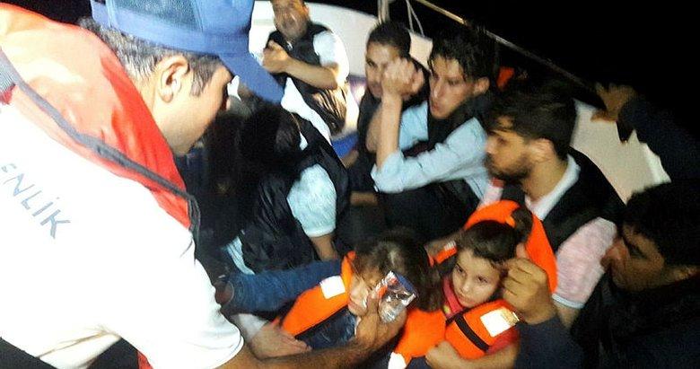 Muğla Bodrum'da 13 düzensiz göçmen yakalandı