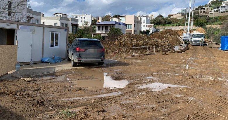 Beton mikserini takip eden polis ekibi, kaçak inşaata suçüstü yaptı