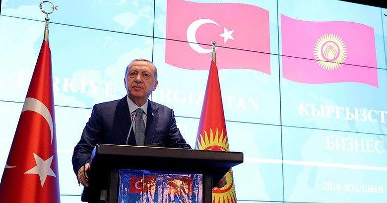 Başkan Erdoğandan Kırgızistanda çok önemli açıklamalar!