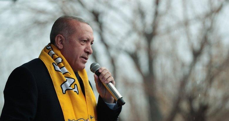 Başkan Erdoğan: Mertçe karşımıza çıkmıyorlar