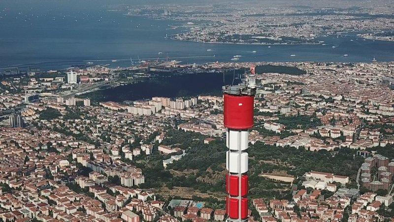 Küçük Çamlıca TV-Radyo Kulesi inşaatında sona yaklaşılıyor