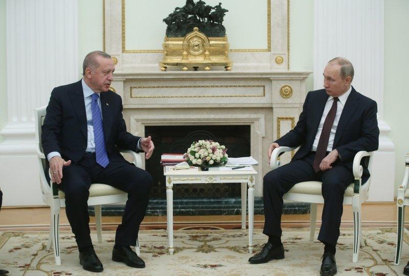 Başkan Erdoğan ve Putin görüşmesinden ilk kareler! Moskova'da tarihi zirve...