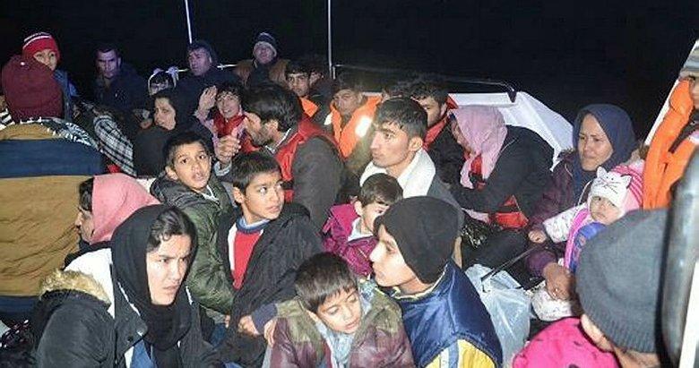 İzmir Dikili'de 47 göçmen ile 1 organizatör yakalandı