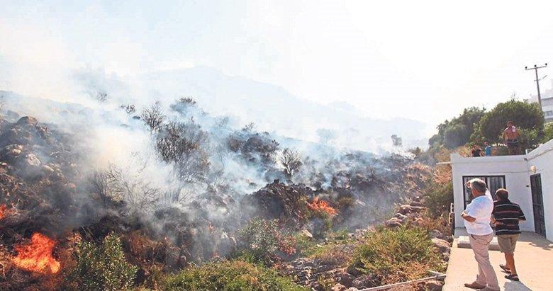 Ege'de yangın