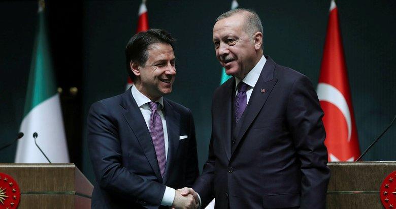 Başkan Erdoğan, İtalya Başbakanı Giuseppe Conte ile görüştü