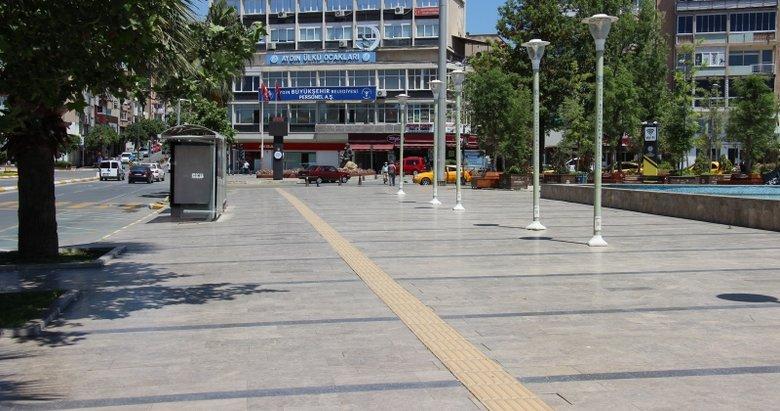 Efeler'de sıcak hava bunalttı, sokaklar boş kaldı