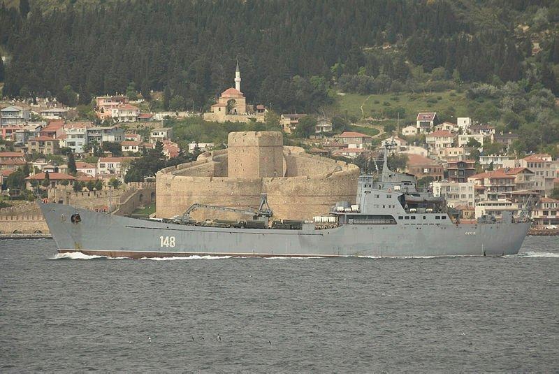 Askeri araç yüklü Rus gemisi Ege'de