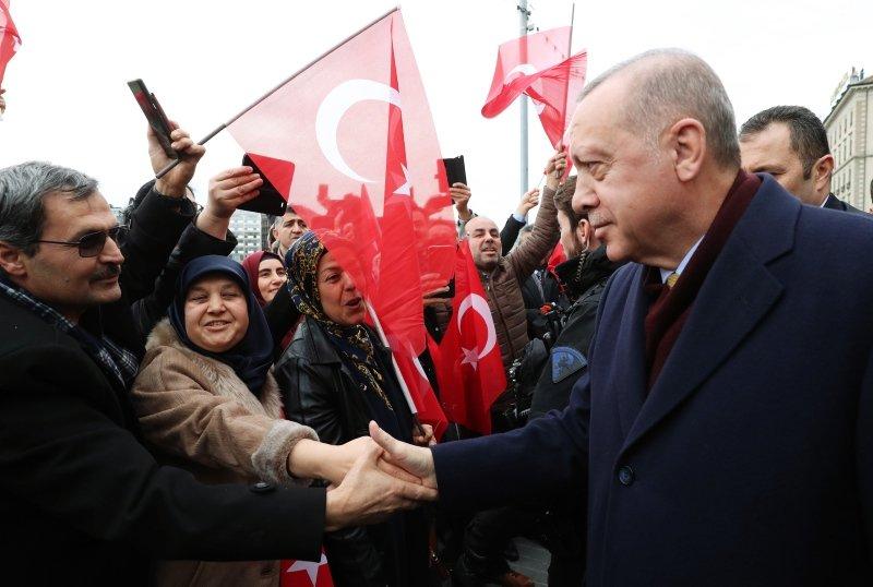 Başkan Erdoğan'a Cenevre'de yoğun ilgi