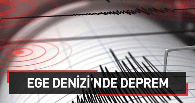 Ege Denizinde 4.3 büyüklüğünde deprem