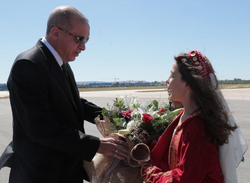 Başkan Erdoğan'ı Eskişehir'de böyle karşıladılar!