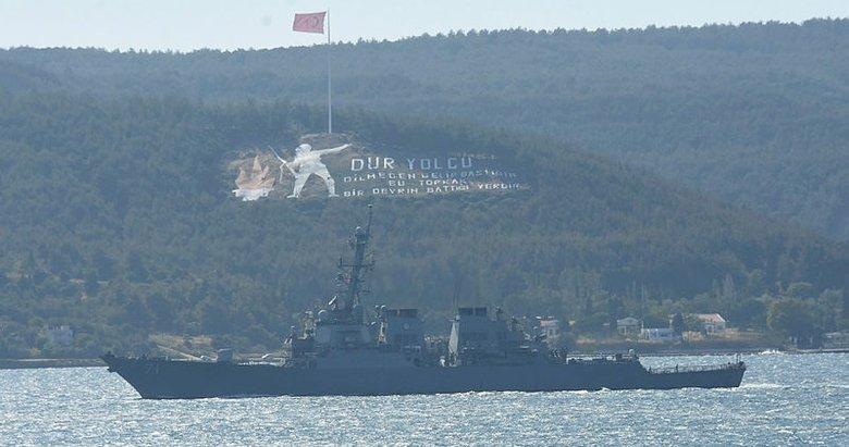 ABD savaş gemisi, Ege Denizi'ne açıldı