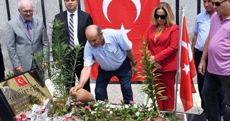 Başkan Erdoğan'ın koruması Uşak'ta mezarı başında anıldı