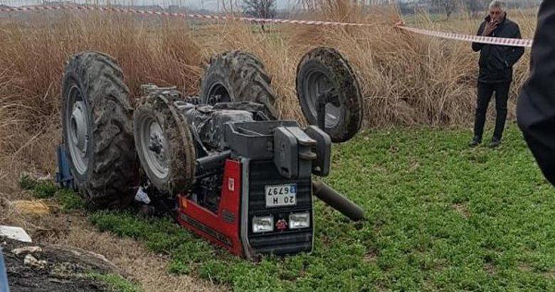 Takla atan traktörün altında kalan kadın sürücü öldü