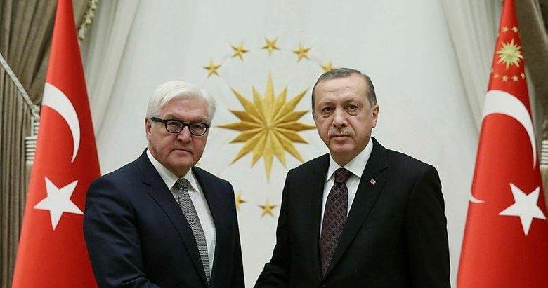 Başkan Erdoğan, Almanya Cumhurbaşkanı ile görüştü!