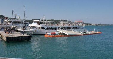 Ayvalıkta 205 kişilik tekne battı