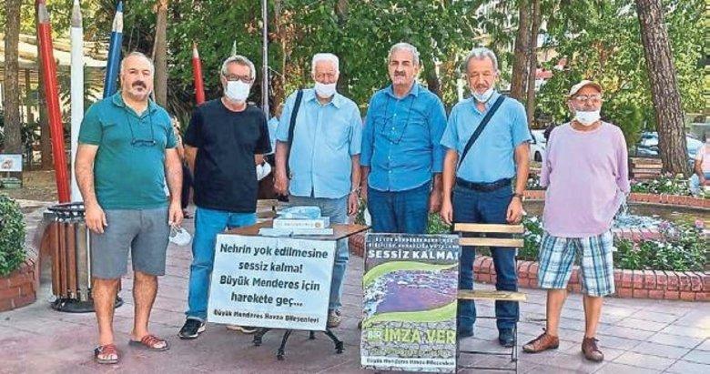 Büyük Menderes için imza kampanyası