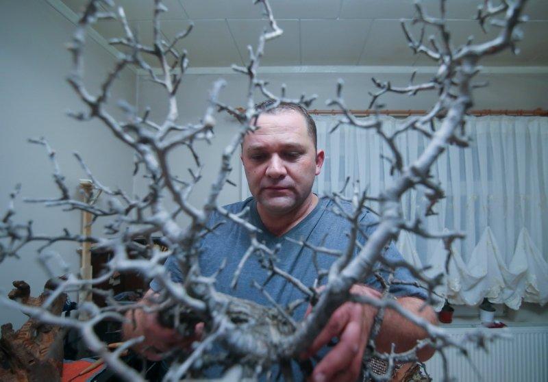 Bulduğu ağaç dallarını sanat eserine dönüştürdü! Görenler hayran kaldı